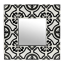 Handpainted Tiles Decorative Wall Mirror