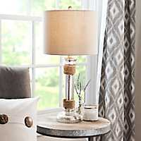Mercury Glass Rope Table Lamp