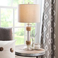 Mercury Glass Rope Table Lamp