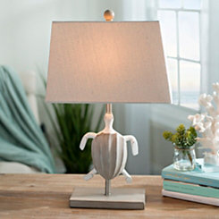 Brown Sea Turtle Table Lamp