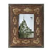 Vintage Natural Geometric Picture Frame, 4x6