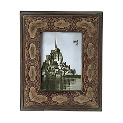 Vintage Natural Geometric Picture Frame, 5x7