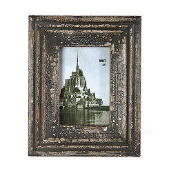 Vintage Distressed Black Picture Frame, 4x6