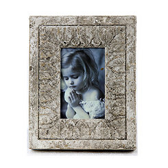 Distressed Ivory Stone Picture Frame, 4x6