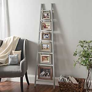 Gray Ladder Leaner Collage Frame