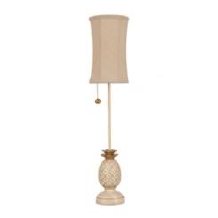 Cream & Gold Pineapple Buffet Lamp