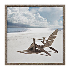 Beach Chair Framed Art Print