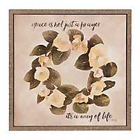 Magnolia Wreath Grace Framed Art Print