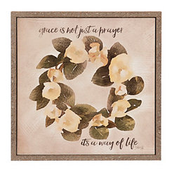 Magnolia Wreath Grace Framed Art Print