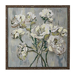 White Bouquet Framed Art Print