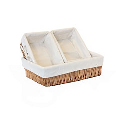Natural Willow Storage Baskets, Set of 3