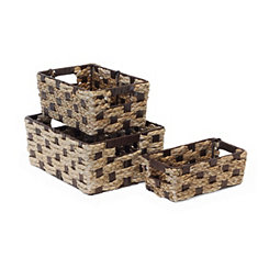 Twisted Rush Baskets, Set of 3