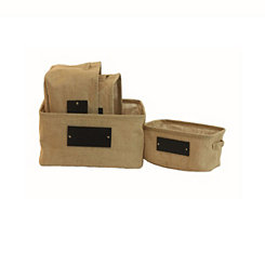 Burlap Totes with Chalkboard Labels, Set of 4