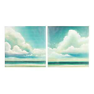 Clouds Canvas Art Prints, Set of 2