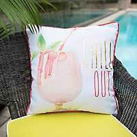 Chill Out Cocktail Outdoor Pillow