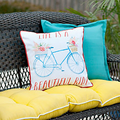 Life Is A Beautiful Ride Outdoor Pillow