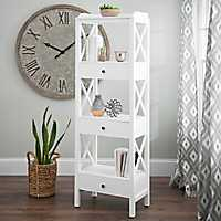 Addison Cream 4-Tier Shelf