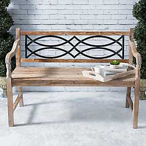 Elena Wood and Metal Bench