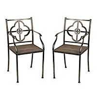 Natalie Quatrefoil Chairs, Set of 2