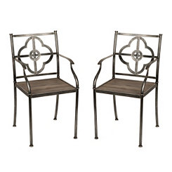 Natalie Quatrefoil Chairs, Set of 2