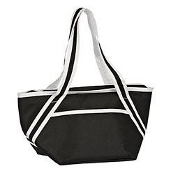 Black Insulated Lunch Tote