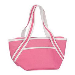 Bright Pink Insulated Lunch Tote