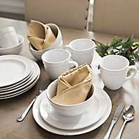 White Olivia 16-pc. Dinnerware Set