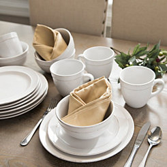White Olivia 16-pc. Dinnerware Set