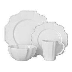 White Scallop 16-pc. Dinnerware Set