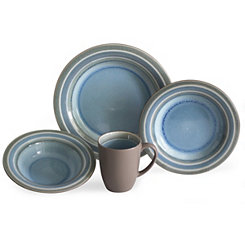 Blue Color Stack 16-pc. Dinnerware Set