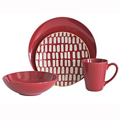 Dash Red 16-pc. Dinnerware Set