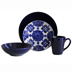 Cobalt Medallion 16-pc. Dinnerware Set
