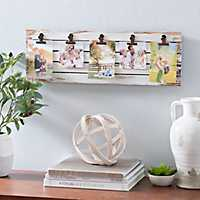 Distressed Cream Plank Clip Collage Frame