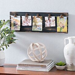 Distressed Black Plank Clip Collage Frame