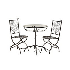 Metal Birds and Tree Bistro Set