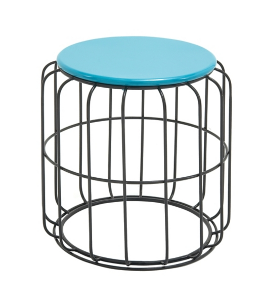 blue wire cage outdoor accent table - Outdoor Accent Tables