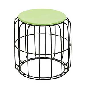 Green Wire Cage Outdoor Accent Table