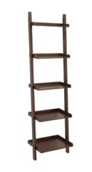 Chestnut Wooden Leaning Shelf