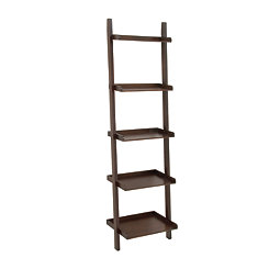 Chestnut Wooden Leaning Shelf