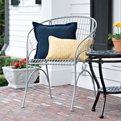 Gray Curved Metal Chair