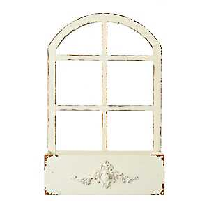White Windowpane Planter