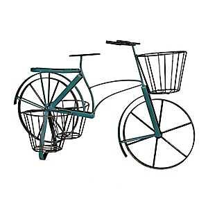 Blue Metal Bike Planter