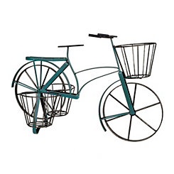 Blue Metal Bike Planter