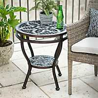 Black and White Mosaic Side Table
