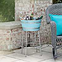 Retro Galvanized Metal Beverage Tub