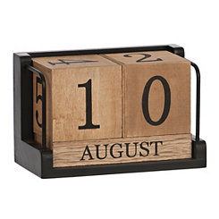 Five Block Wood Calendar