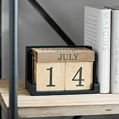 Five Block Wood Calendar
