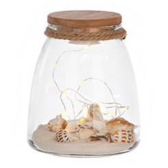 Pre-Lit Coastal Jar