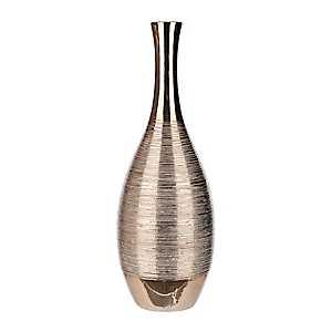 Spun Metallic Gold Ceramic Vase