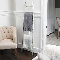 Distressed White Leaning Ladder